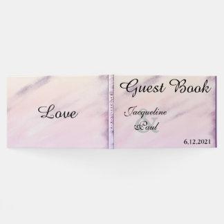 Libro de visitas púrpura bonito del boda de la