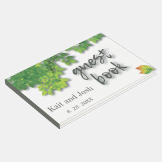 Libro De Visitas Recuerdo minimalista del boda del roble del otoño