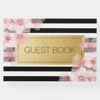 Libro de visitas rosado del boda de Foral de la
