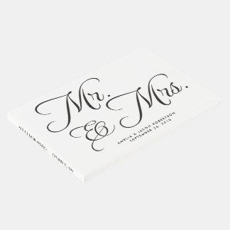 Libro de visitas, Sr. y señora del boda, blancos y