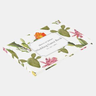 Libro de visitas suculento floreciente del boda libro de visitas