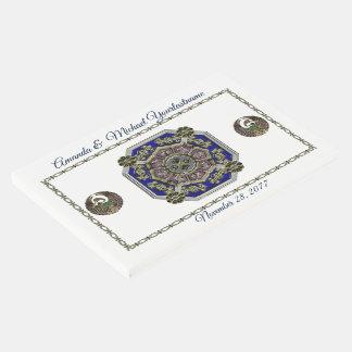 Libro De Visitas Tradicional asiático del art déco Jeweled