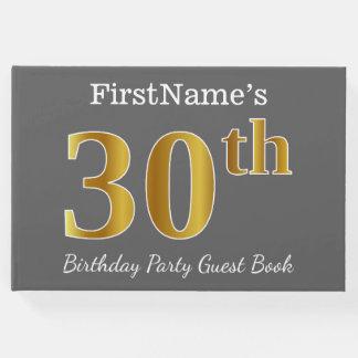 Libro De Visitas Trigésima fiesta de cumpleaños del oro gris, falso