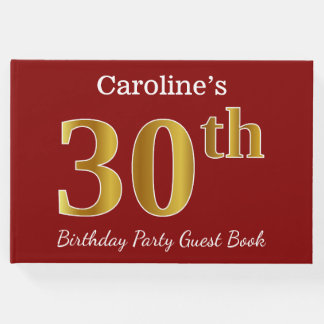 Libro De Visitas Trigésima fiesta de cumpleaños del oro rojo, falso