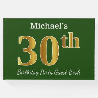 Libro De Visitas Trigésima fiesta de cumpleaños del oro verde,
