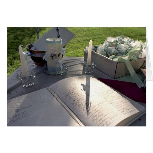 Libro del boda - tarjeta de felicitación