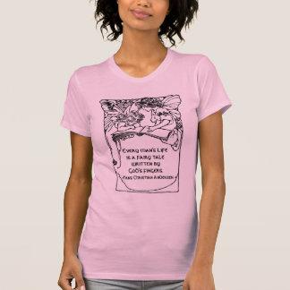 Libro del ejemplo del vintage de Hans Christian Camisetas