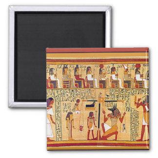 Libro egipcio antiguo de los muertos imán cuadrado