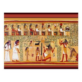 Libro egipcio antiguo de los muertos tarjeta postal