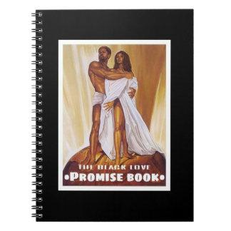Libro negro de la promesa del amor libro de apuntes