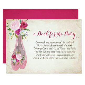 Libro para el bebé, parte movible rosado del invitación 8,9 x 12,7 cm