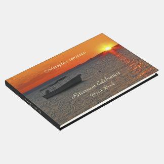 Libro personalizado del fiesta de retiro, barco de