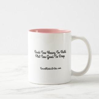 Libro pesado (taza) taza de café de dos colores