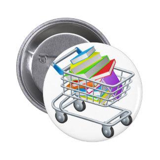 Libros de la carretilla de las compras