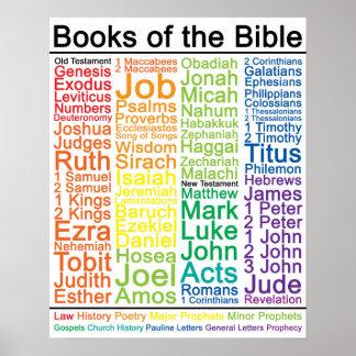 Libros del poster de la biblia 16x20 - versión póster