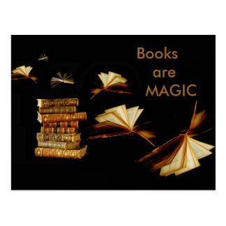 Libros mágicos postal