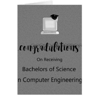 Licenciaturas de ciencias en ingeniería tarjeta de felicitación