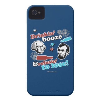 Licores y Refusin de Drinkin a perder Case-Mate iPhone 4 Protectores