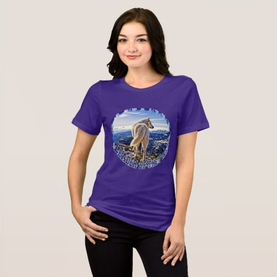 Líder de la camiseta del lobo del paquete