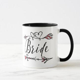 Líder de la taza de café de la tribu de la novia