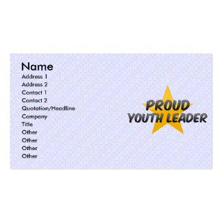 Líder orgulloso de la juventud tarjetas de visita