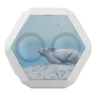 Liebres árticas, lepus arcticus, o conejo polar altavoz blanco con bluetooth