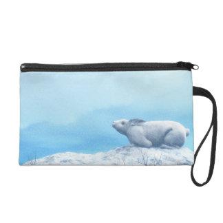 Liebres árticas, lepus arcticus, o conejo polar bolsito de fiesta