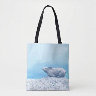 Liebres árticas, lepus arcticus, o conejo polar bolso de tela
