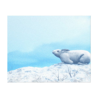 Liebres árticas, lepus arcticus, o conejo polar impresión en lienzo