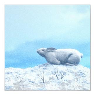 Liebres árticas, lepus arcticus, o conejo polar invitación 13,3 cm x 13,3cm