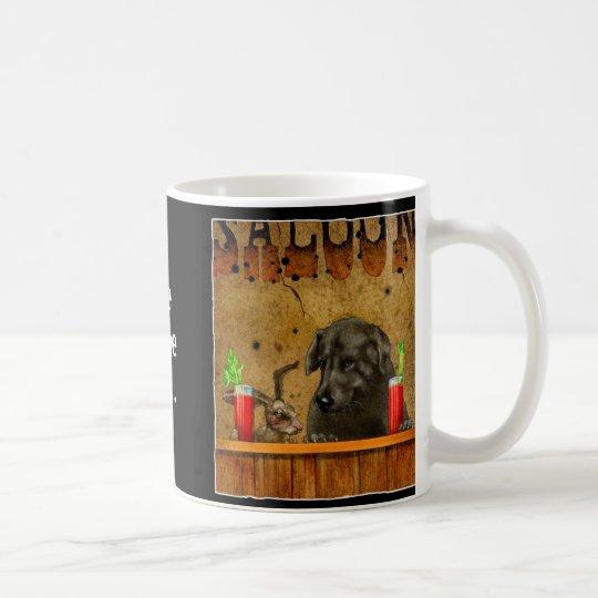 Liebres del perro taza de café