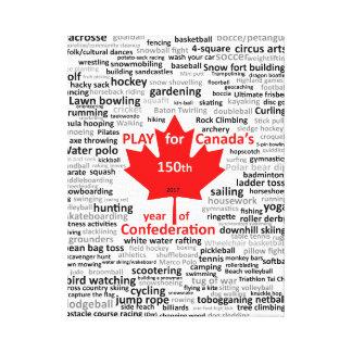 Lienzo 150a lista del juego de Canadá en lona