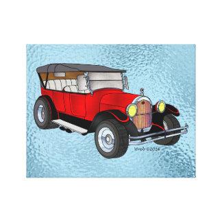 Lienzo 1923 Olds que viaja, rojo -