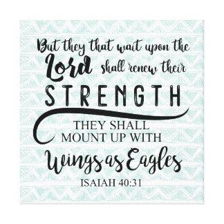 Lienzo 40:31 KJV de Isaías