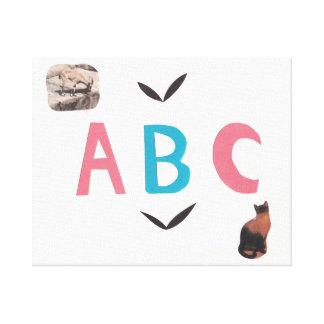 Lienzo ABC en lona envuelta
