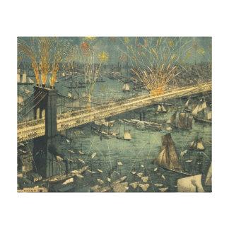 Lienzo Abertura histórica del puente de Nueva York