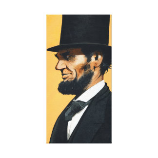 """Lienzo Abraham Lincoln - """"disparo al campo original """""""