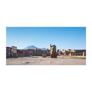 Lienzo Abrigo de la lona - foro romano - Pompeya antiguo,