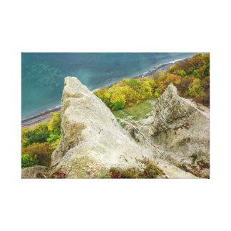 Lienzo Acantilados de tiza en la isla Ruegen