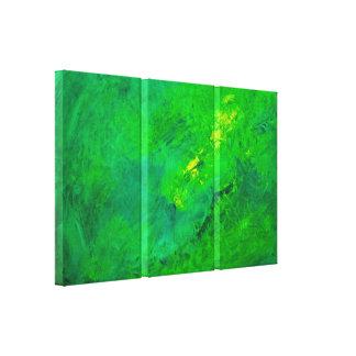 Lienzo Acrílico verde del expresionista del extracto del