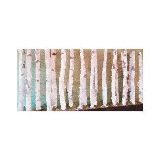 Lienzo Acuarela abstracta de los árboles de abedul
