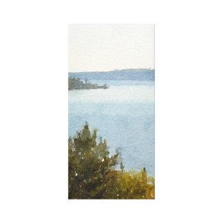 Lienzo Acuarela abstracta hermosa del lago Superior