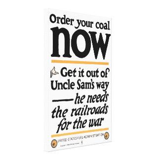 Lienzo Ahora pida su carbón 1917