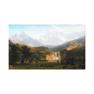 Lienzo Albert Bierstadt el pico del Lander de las