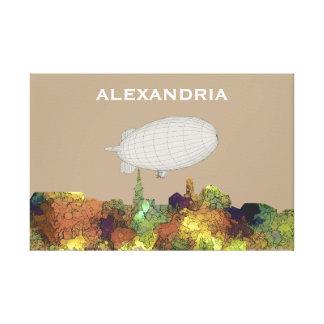 Lienzo Alexandría, horizonte de Viirginia - SG - piel de