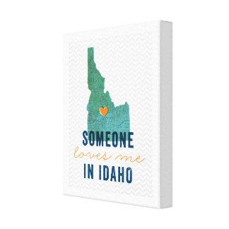 Lienzo Alguien me ama en la lona de Idaho