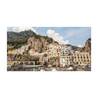 Lienzo Amalfi de la costa