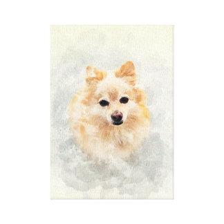 Lienzo ¡Amante del perro! Perro de Pomeranain del