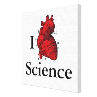 Lienzo Amo ciencia