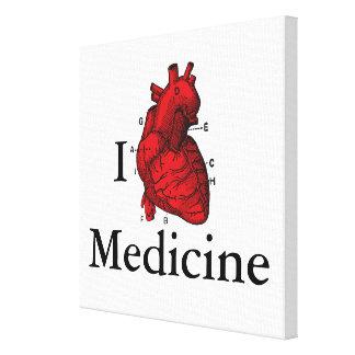 Lienzo Amo la medicina